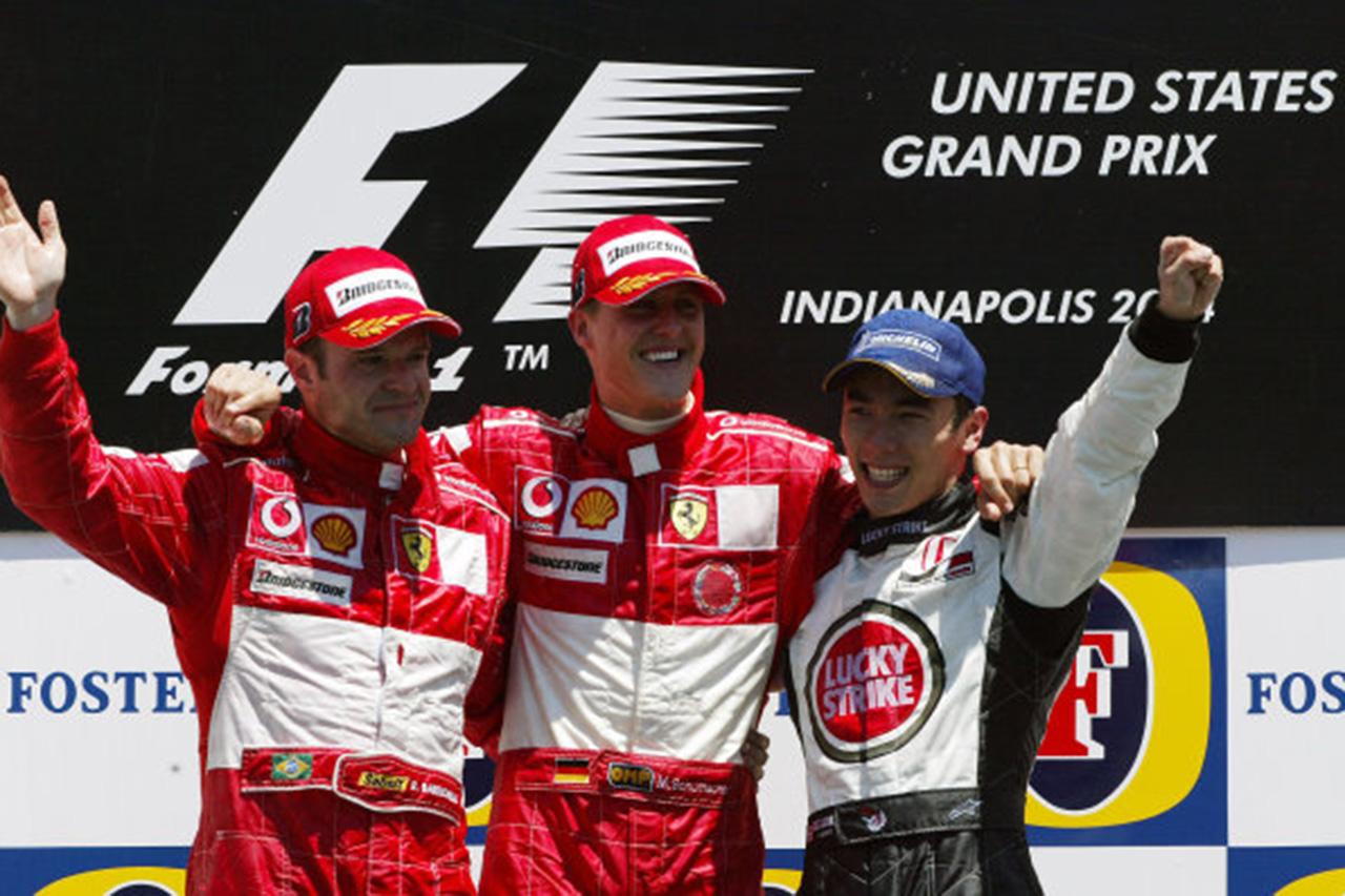 F1回顧録:佐藤琢磨が3位表彰台を獲得した2004年F1アメリカGP