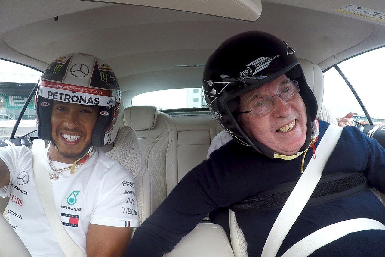 【F1動画】 フランク・ウィリアムズ、ハミルトンの運転で同乗走行