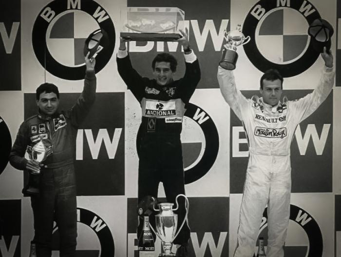 アイルトン・セナ 1985年 F1ポルトガルGP 表彰台