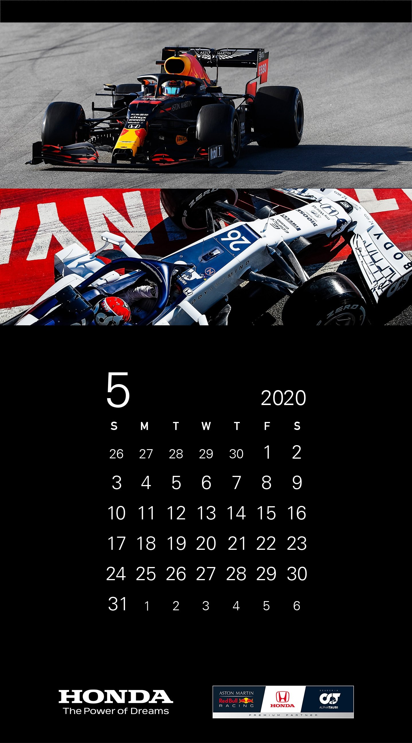 ホンダf1 Pc スマホ用の壁紙カレンダーを無料配布 F1 Gate Com