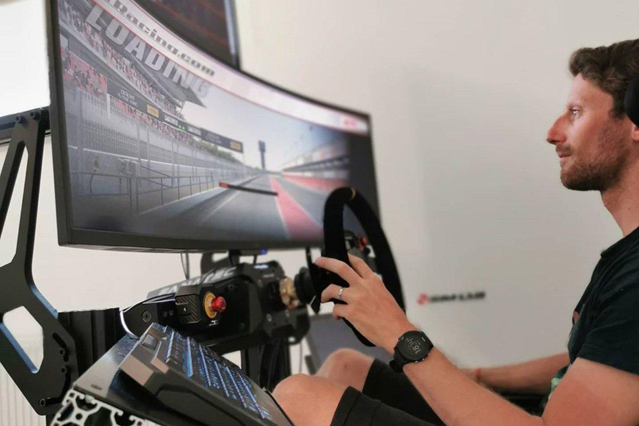 ハームF1のロマン・グロージャン、シムレースチームを設立