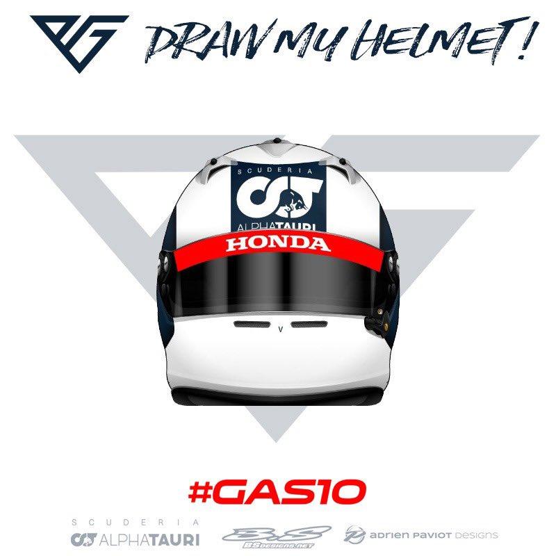 ピエール・ガスリー、開幕戦で着用するヘルメットのデザインを募集①