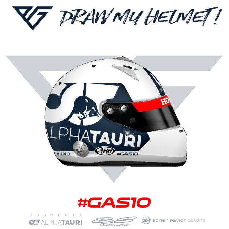 ピエール・ガスリー、開幕戦で着用するヘルメットのデザインを募集②