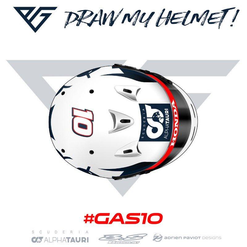 ピエール・ガスリー、開幕戦で着用するヘルメットのデザインを募集③