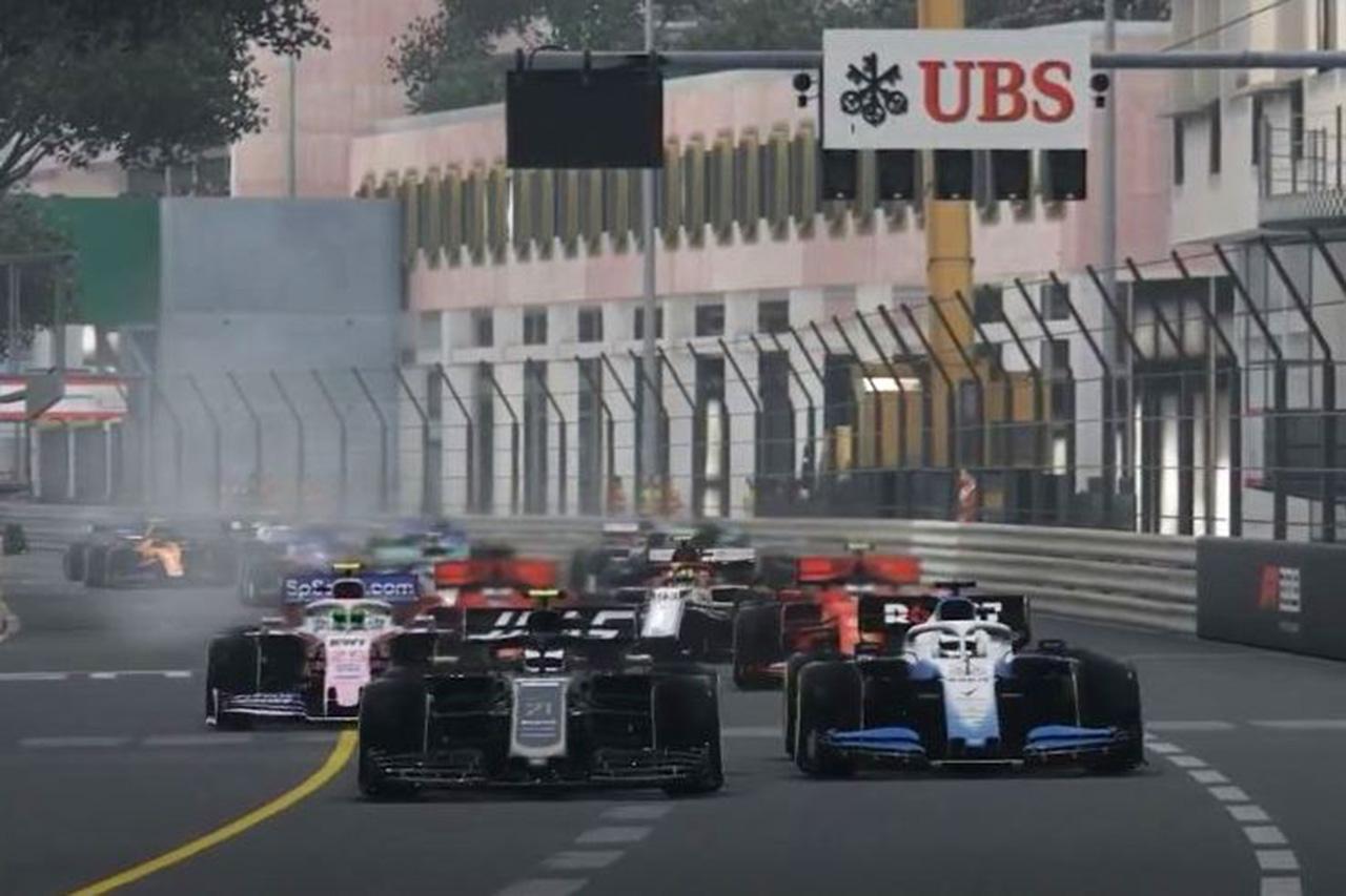 F1バーチャル・モナコGP 結果:ジョージ・ラッセルが独走で2連勝