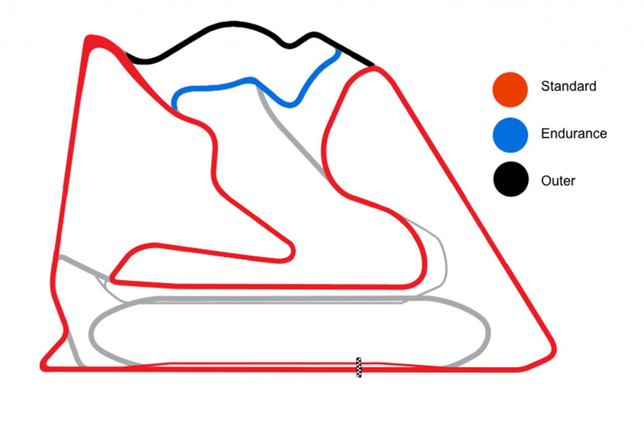 F1バーレーンGP 3つのレイアウト