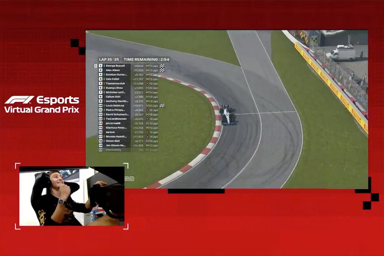 F1バーチャル・カナダGP 結果:ジョージ・ラッセルが4連勝