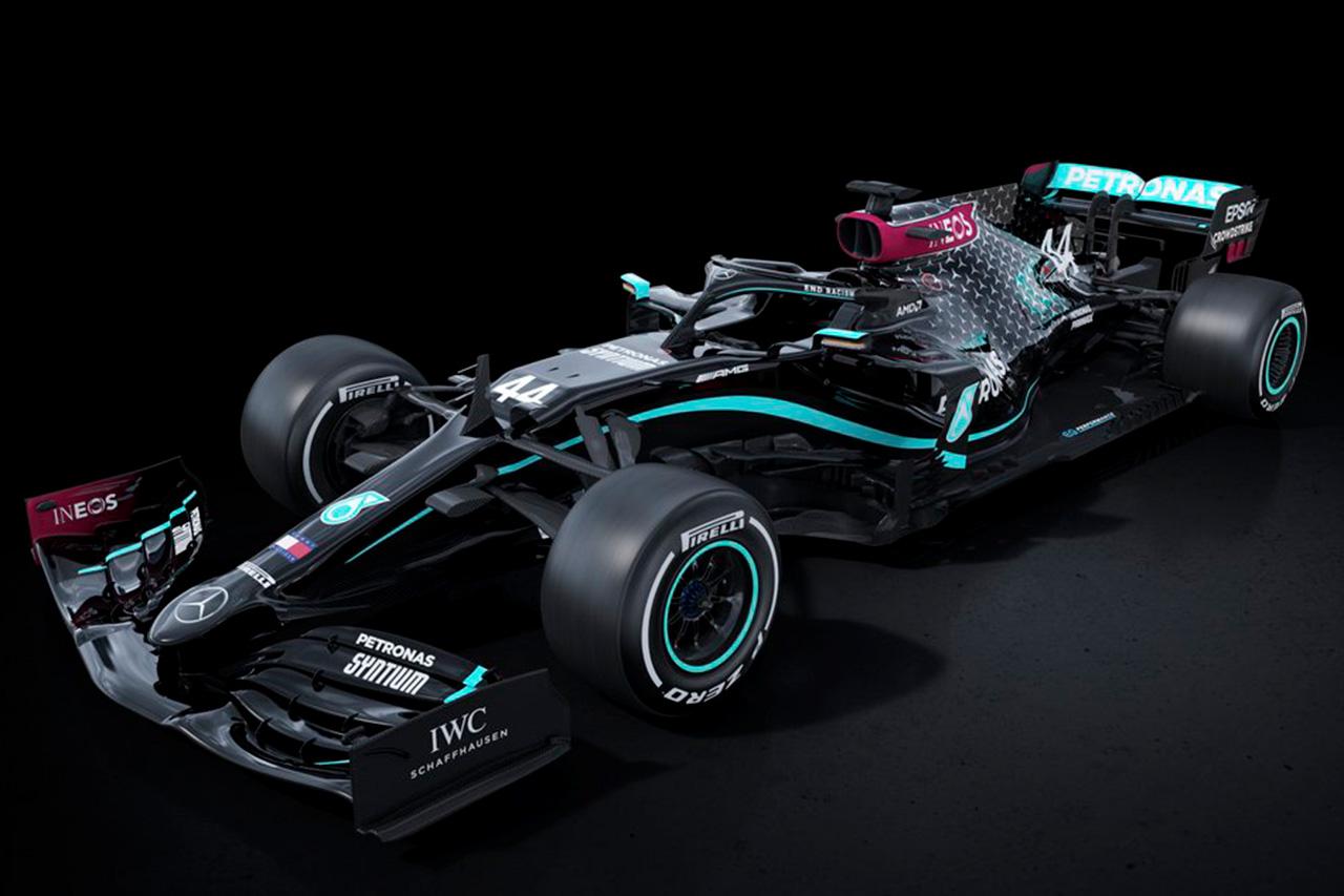 メルセデスF1、人種差別反対を示すW11の新カラーリングを公開