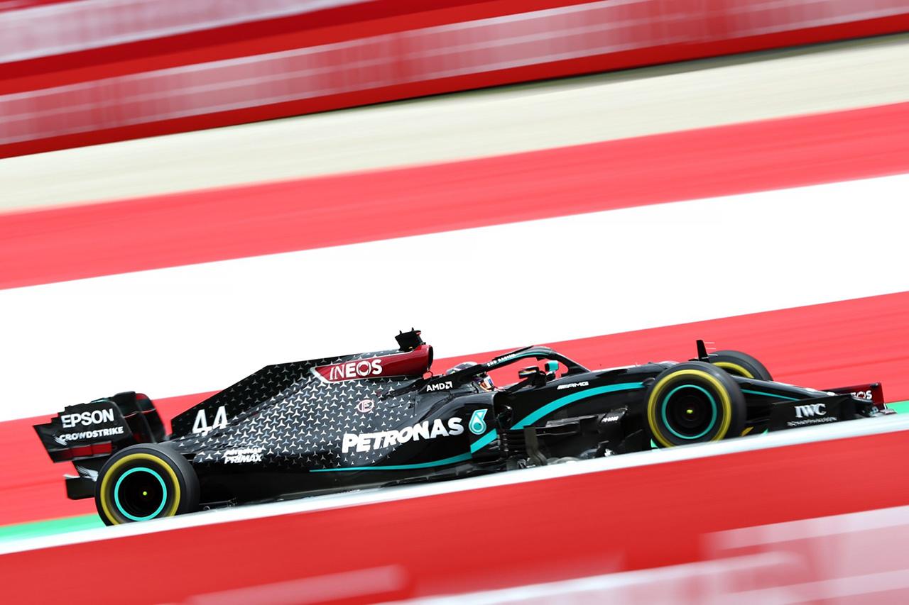 F1オーストリアGP フリー走行2回目:ハミルトン最速でメルセデスF1が1-2。レーシング・ポイントF1が3番手に続く