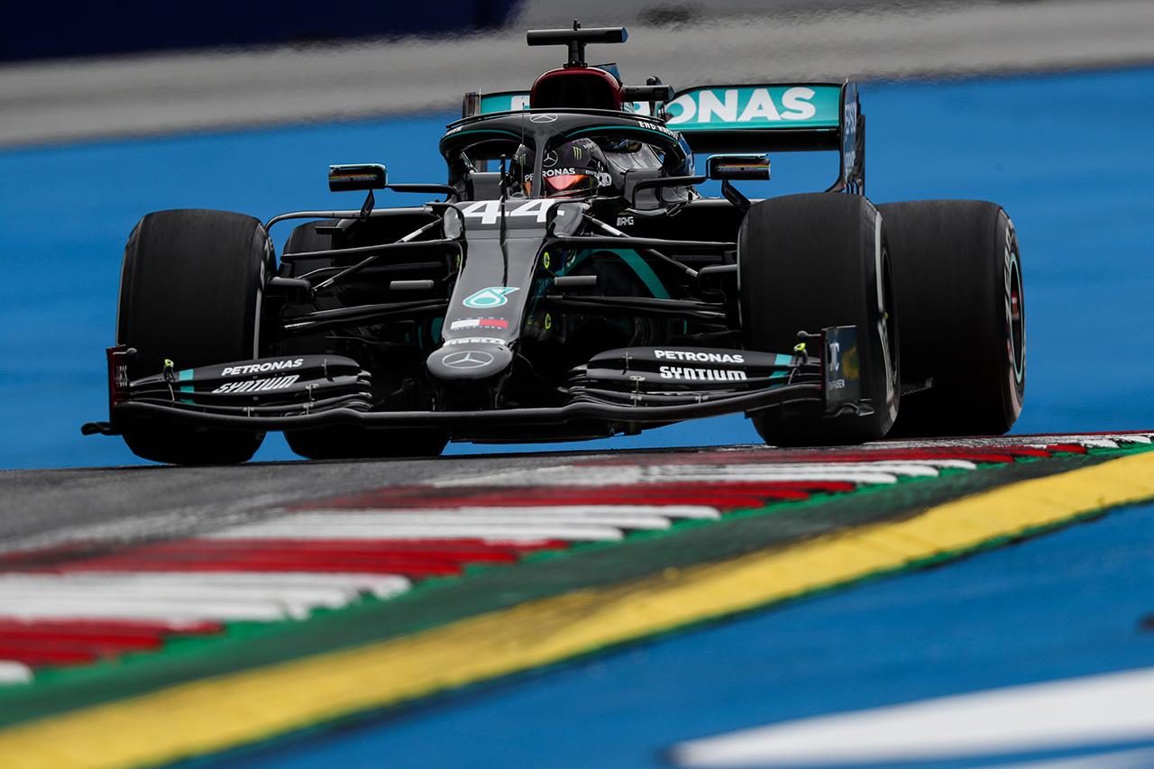 F1オーストリアGP フリー走行3回目:ルイス・ハミルトンがトップタイム。レッドブル・ホンダのマックス・フェルスタッペンが3番手