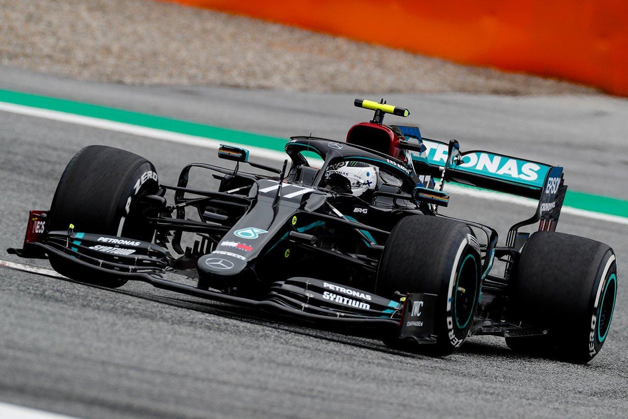 F1オーストリアGP 予選 結果:バルテリ・ボッタスがポールポジション。レッドブル・ホンダのマックス・フェルスタッペンは3番手