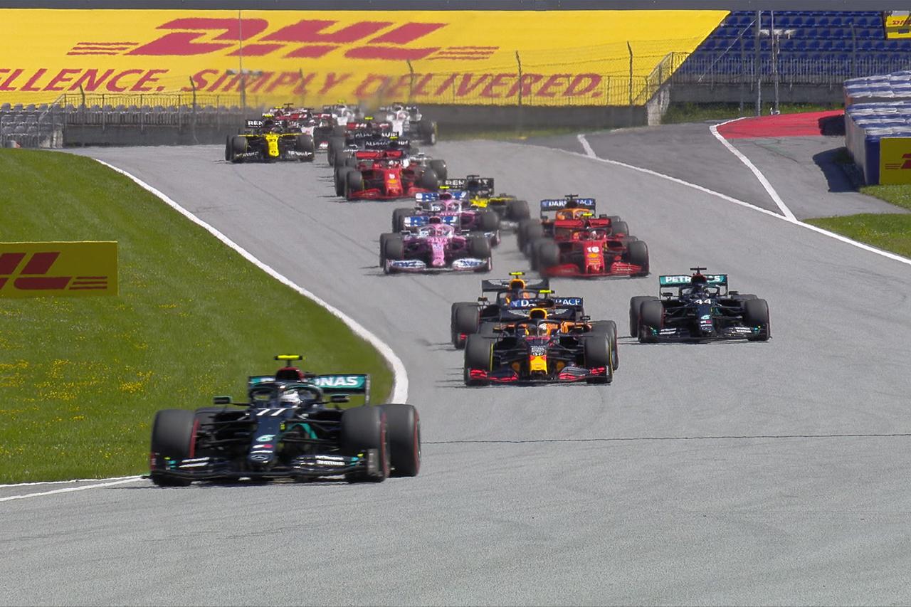 【速報】 F1オーストリアGP 決勝 結果:ボッタスがポール・トゥ・ウィン