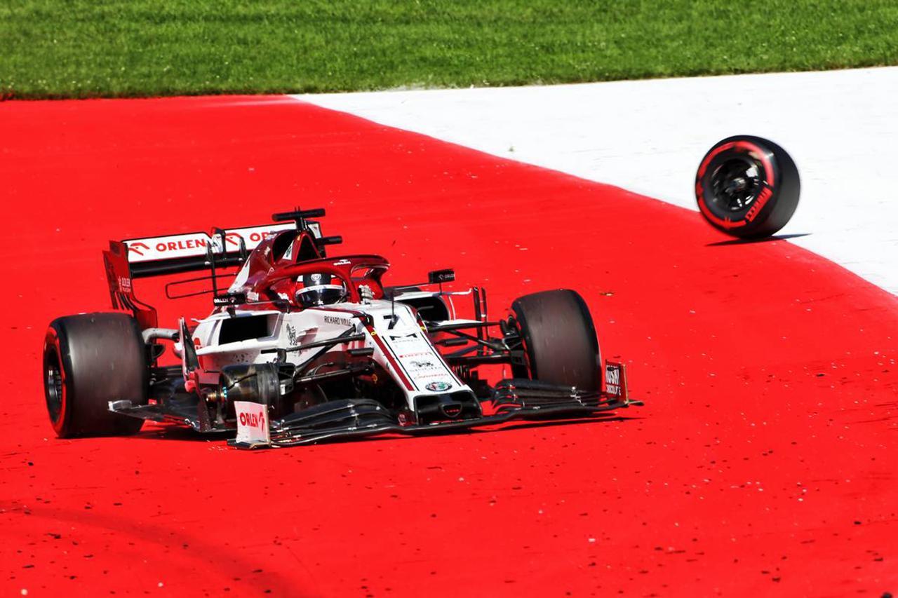 アルファロメオF1、キミ・ライコネンのタイヤ脱落事故で罰金処分 / F1オーストリアGP
