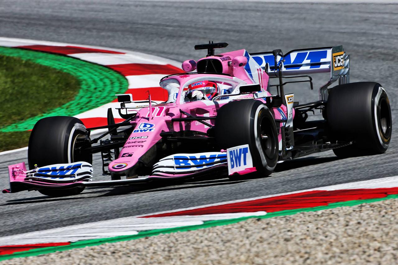 F1シュタイアーマルクGP FP1 結果:レーシングポイントのペレスが首位。レッドブル・ホンダF1のフェルスタッペンが僅差の2番手