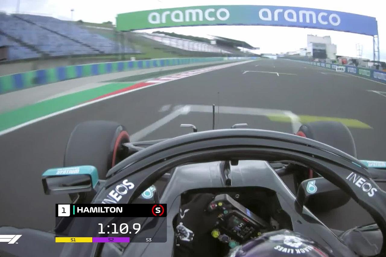 【動画】 ルイス・ハミルトン、記念すべき通算90回目のポールラップ / 2020年 F1ハンガリーGP 予選