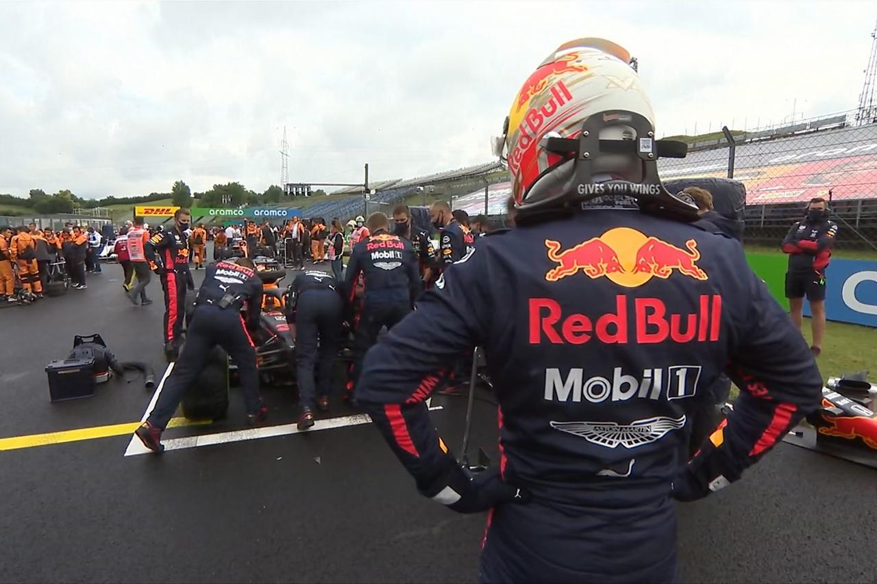 マックス・フェルスタッペン、当初はタイヤ交換に反対「ノースリック」 / レッドブル・ホンダ F1ハンガリーGP 無線レビュー
