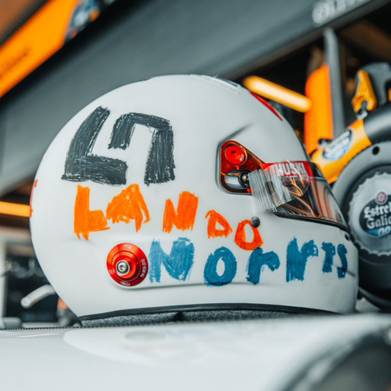 ランド・ノリス 2020年F1イギリスGP 特別ヘルメット