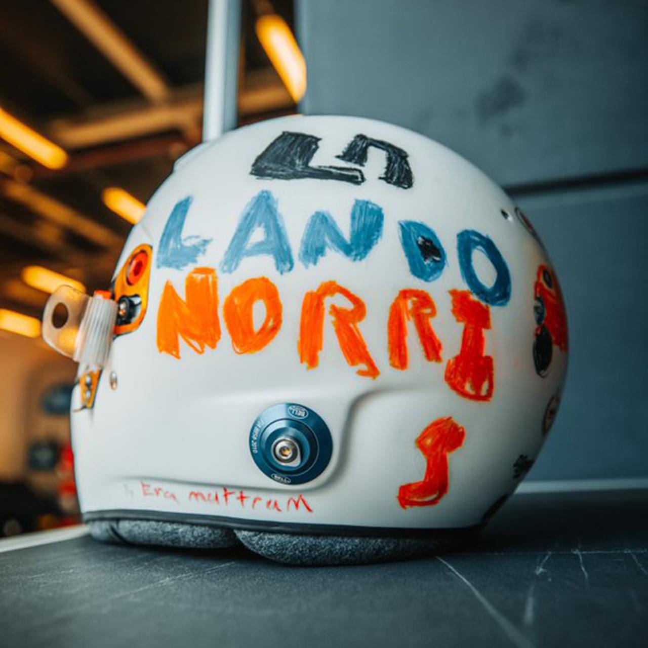 ランド・ノリス 2020年F1イギリスGP 特別ヘルメット②