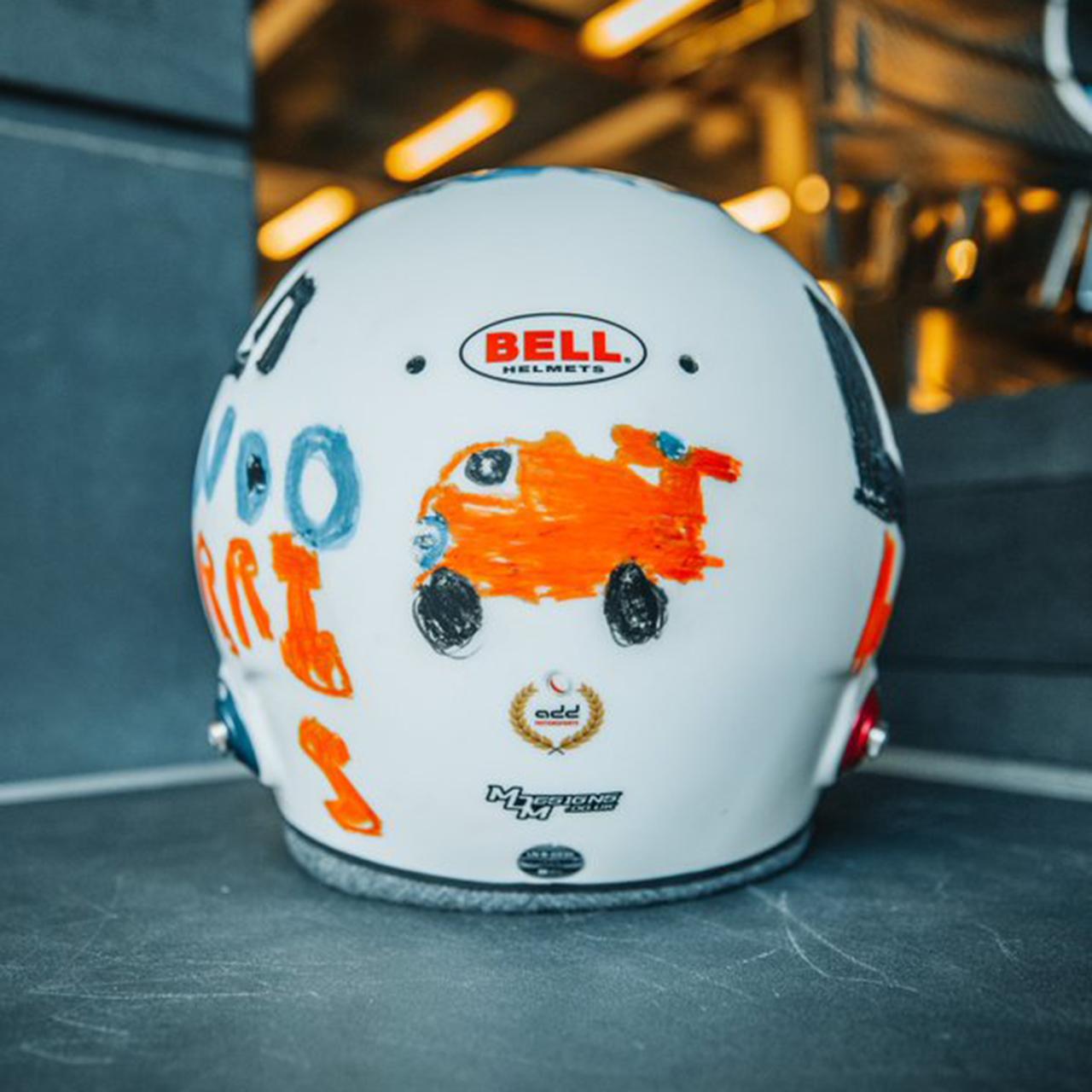 ランド・ノリス 2020年F1イギリスGP 特別ヘルメット③