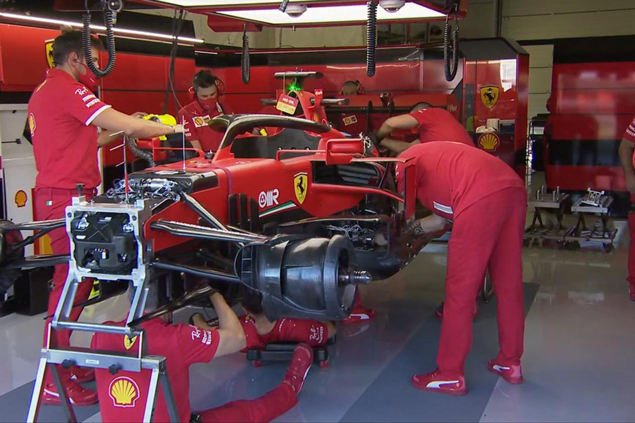 セバスチャン・ベッテル、インタークーラーの問題で2周しかできず / フェラーリ F1イギリスGP
