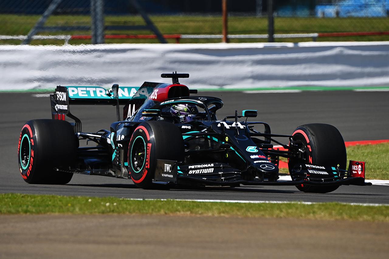 F1 70周年記念GP フリー走行3回目:メルセデスが順当に1-2タイム。フェルスタッペンはトラフィックもあり7番手