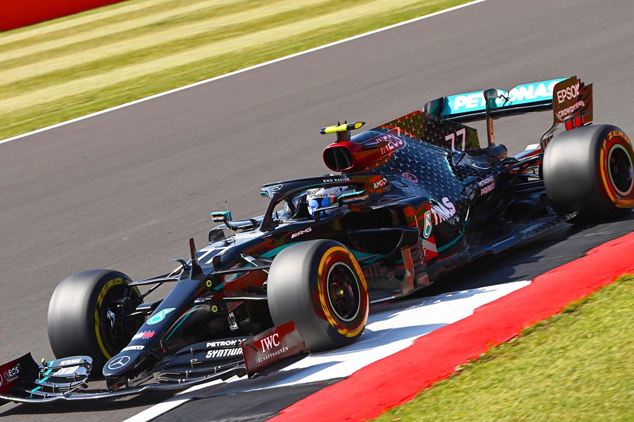 F1 70周年記念GP 予選:ボッタスが0.063秒の僅差でポールポジション。3番手に代役2戦目のヒュルケンベルグ