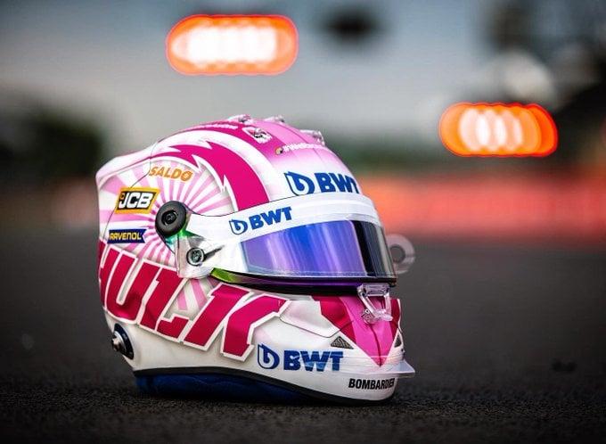 ニコ・ヒュルケンベルグ ヘルメット(2020年 F1 70周年記念GP)