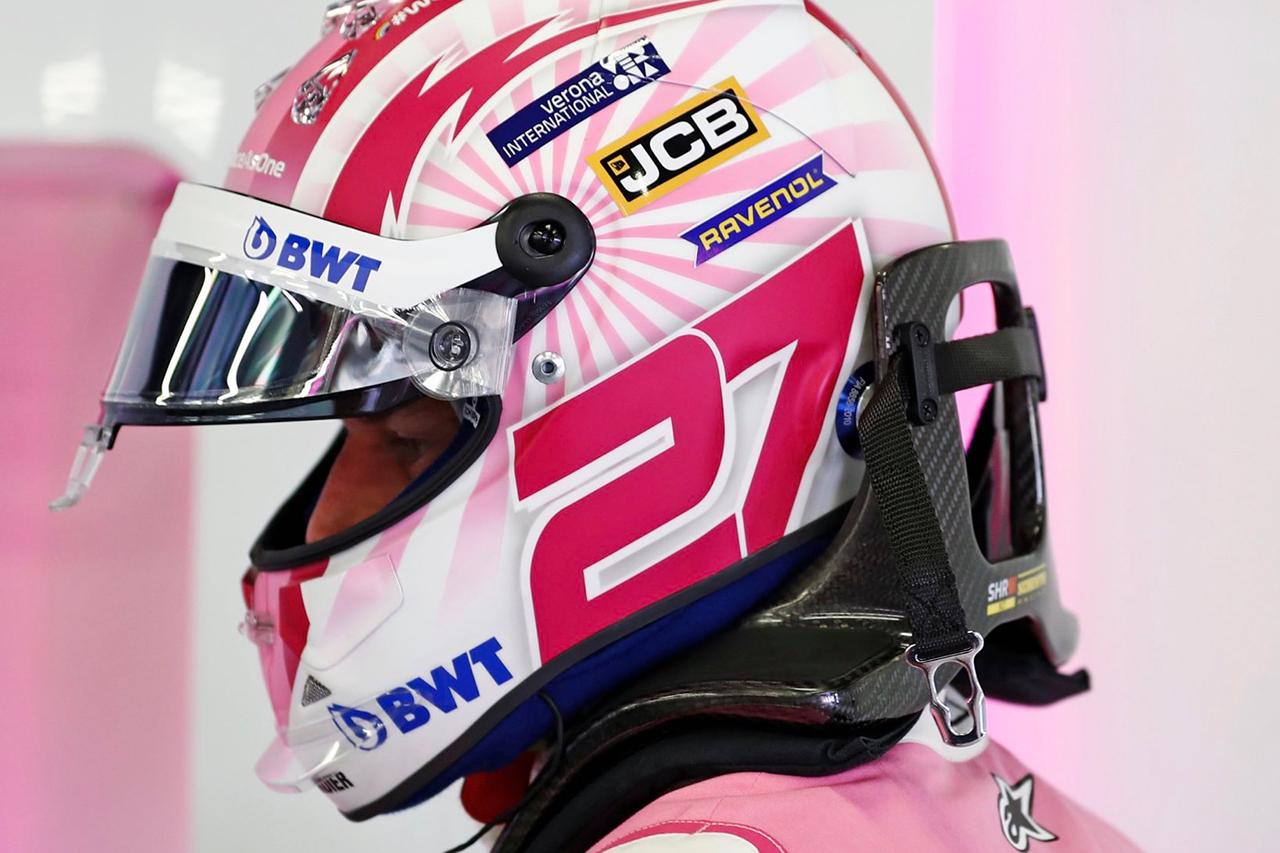 ニコ・ヒュルケンベルグ、レーシング・ポイント仕様ヘルメット / F1 70周年記念GP