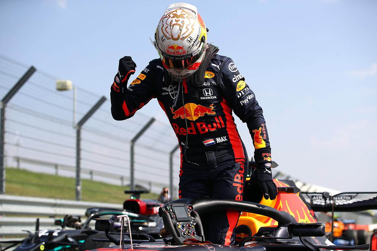 マックス・フェルスタッペン 「ハードタイヤで予選Q2を走る戦略が奏功」 / レッドブル・ホンダF1 70周年記念GP 決勝