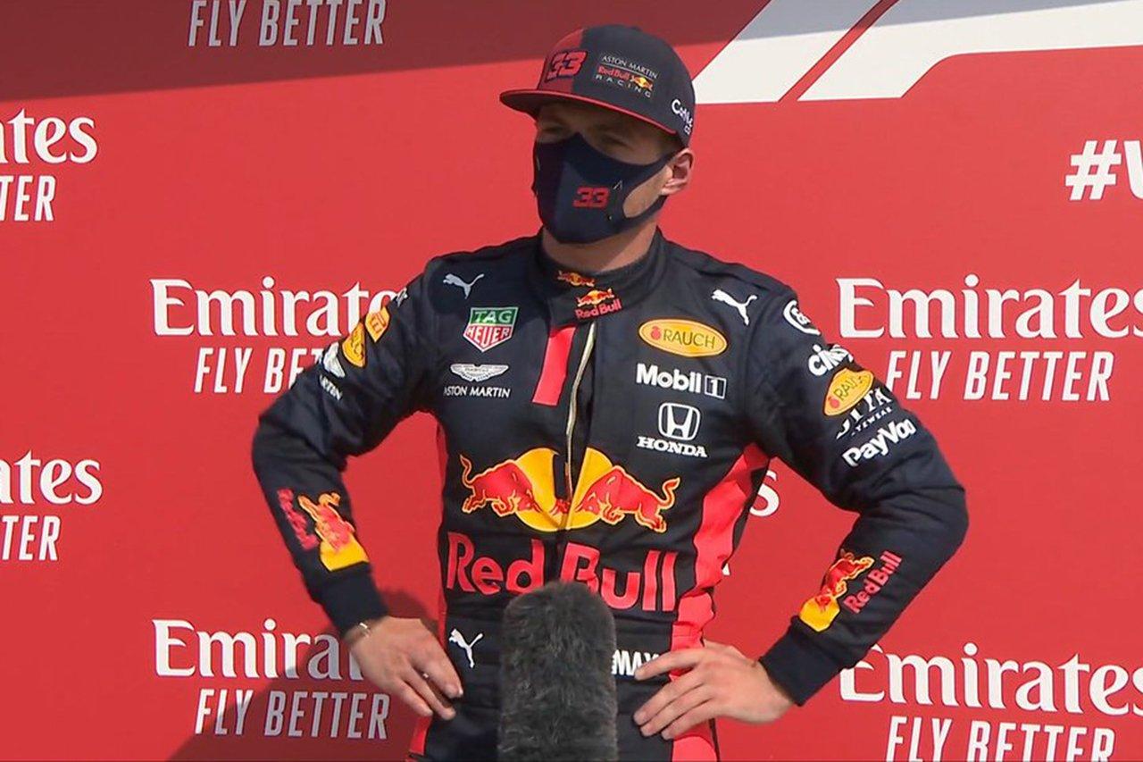 マックス・フェルスタッペン 「クルマにはかなりのペースがあった」 / レッドブル・ホンダF1 70周年記念GP 決勝後インタビュー