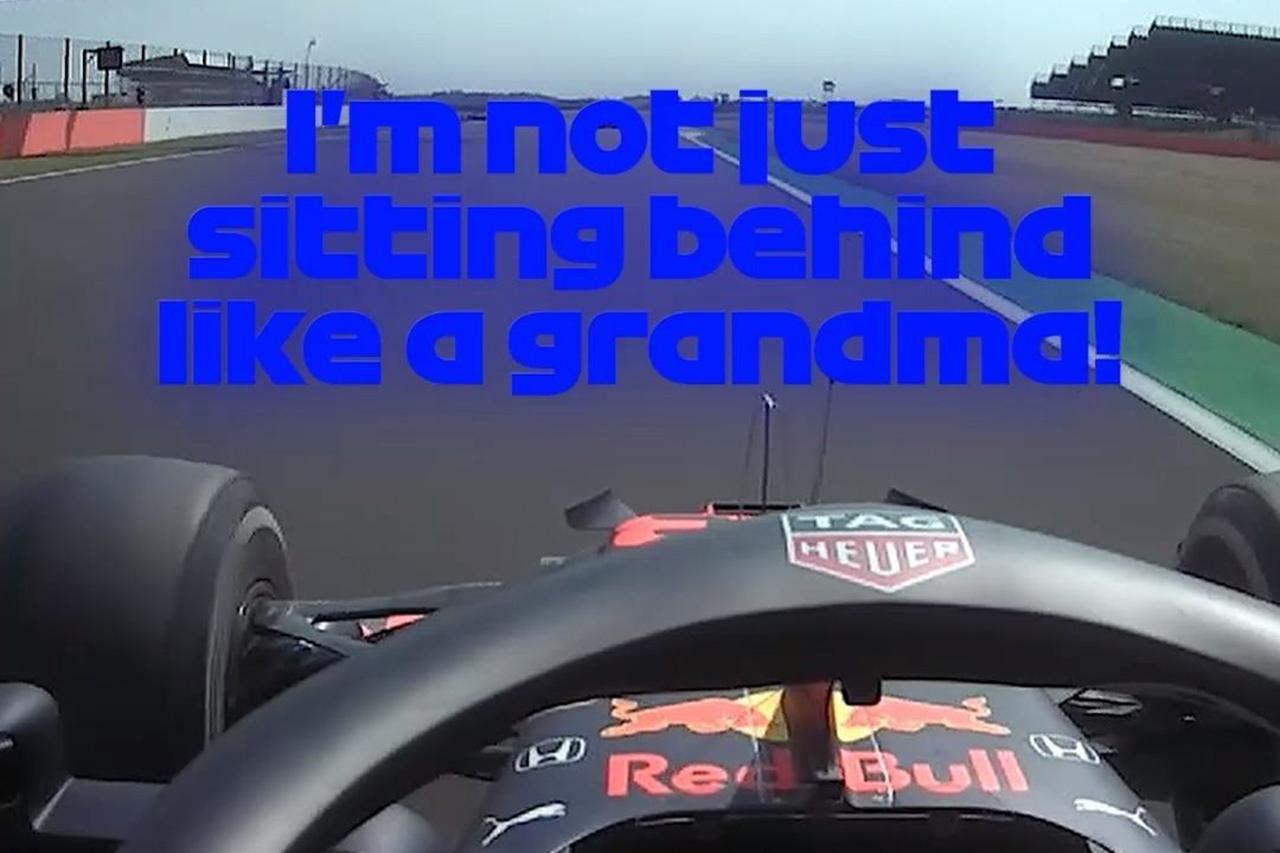 F1無線:フェルスタッペン 「おばあちゃんみたいに走りたくはない」 / F1 70周年記念GP 決勝