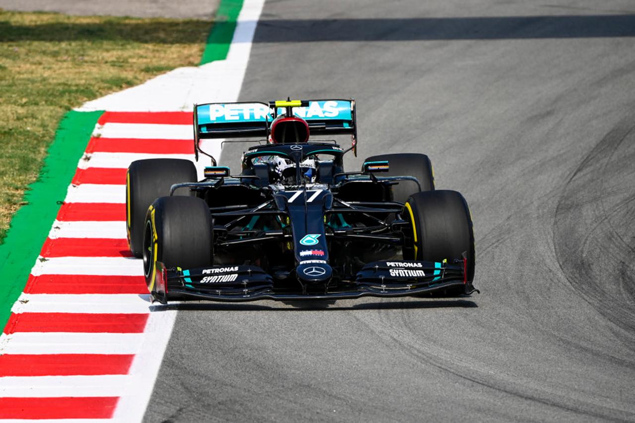 F1スペインGP フリー走行1回目:ボッタス首位でメルセデスが1-2。レッドブルF1のフェルスタッペンは約1秒差の3番手