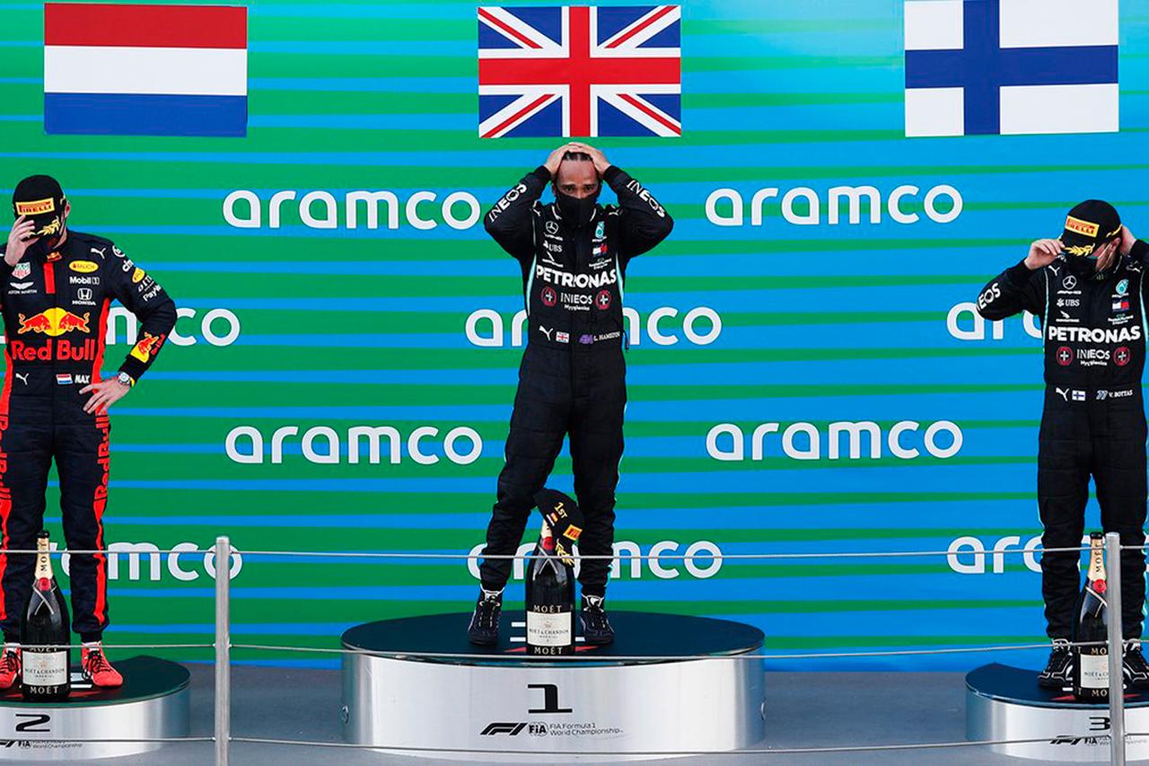 F1スペインGP 決勝:トップ3 インタビュー