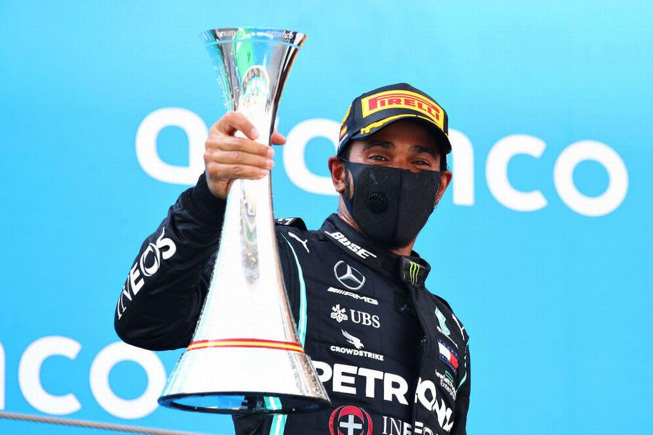 F1スペインGP 結果:ルイス・ハミルトンがポール・トゥ・ウィン。レッドブル・ホンダのマックス・フェルスタッペンが2位表彰台