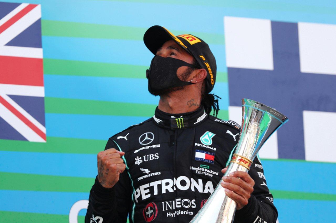 ルイス・ハミルトン、F1史上最多表彰台獲得数でもシューマッハ超え / メルセデス F1スペインGP 決勝
