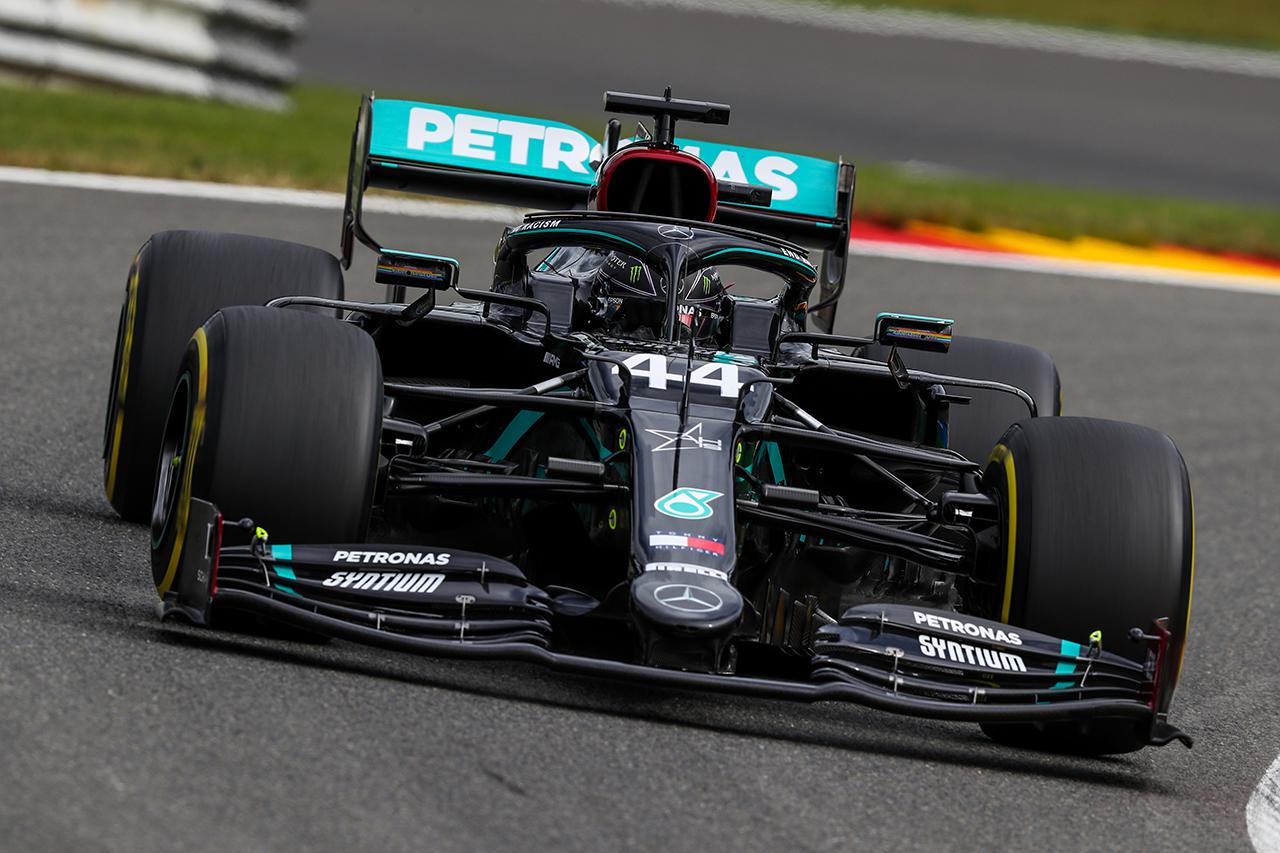 ルイス・ハミルトン 「現時点ではレッドブル・ホンダの方が少しだけ速い」 / メルセデス F1ベルギーGP 金曜フリー走行
