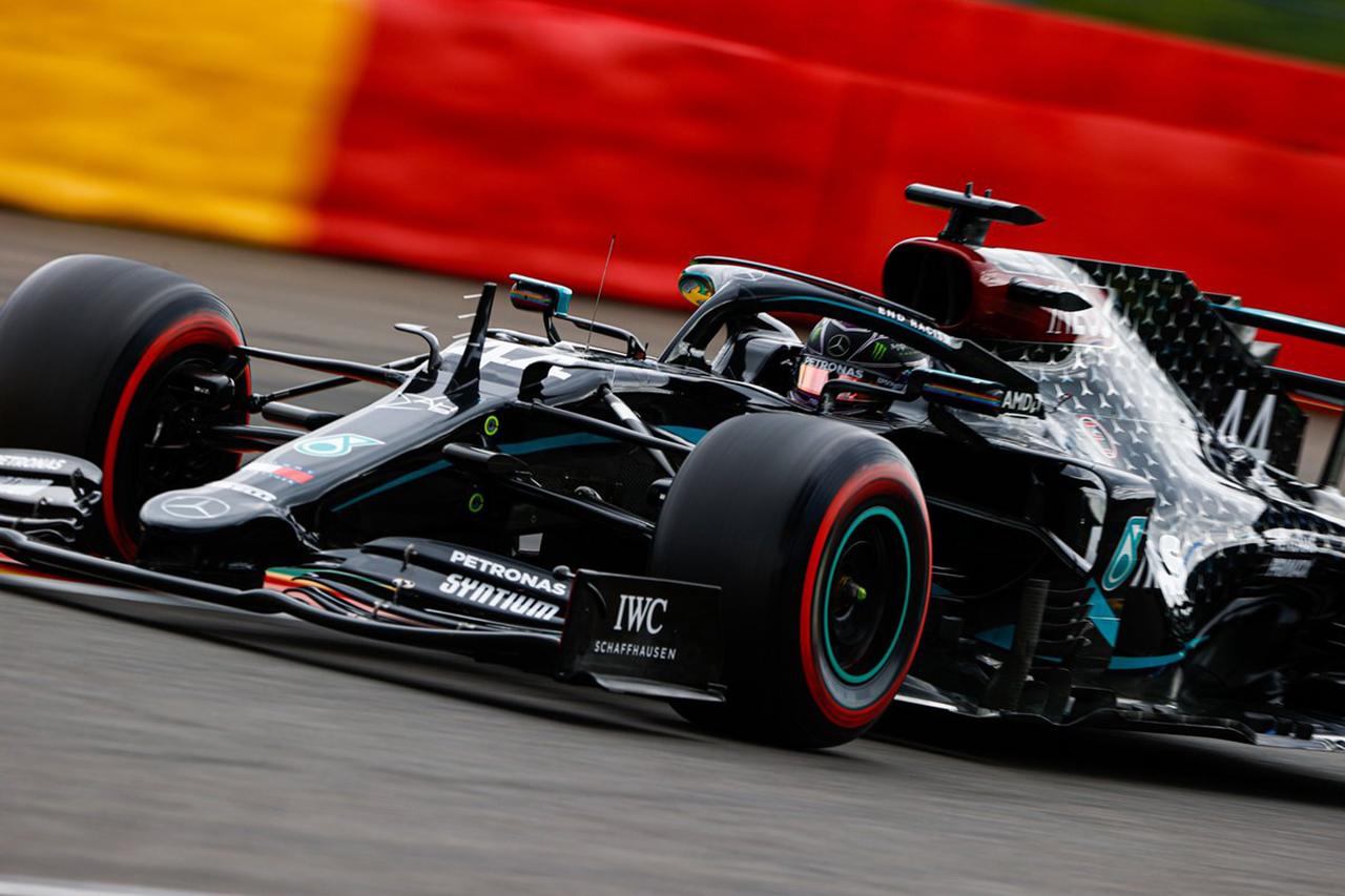 F1ベルギーGP 予選:ハミルトンが圧巻のポールでメルセデスが1列目独占。フェルスタッペンは2番手まで0.015秒差