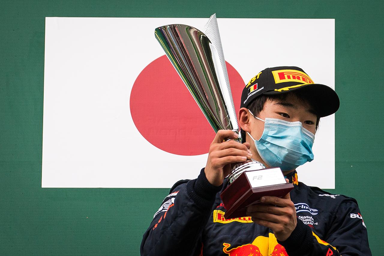 今季2勝目の角田裕毅 「マゼピンを完全に抜ききれなかったのは反省点」  / F2ベルギー大会 レース1