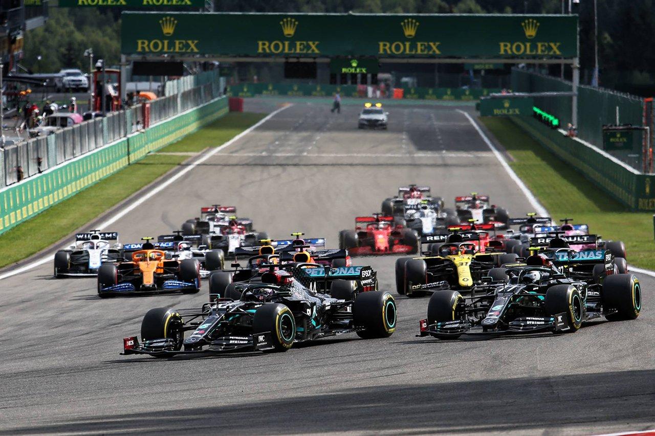 F1ベルギーGP 結果:ルイス・ハミルトンが2戦連続ポール・トゥ・ウィン。レッドブルF1のフェルスタッペンが3位表彰台