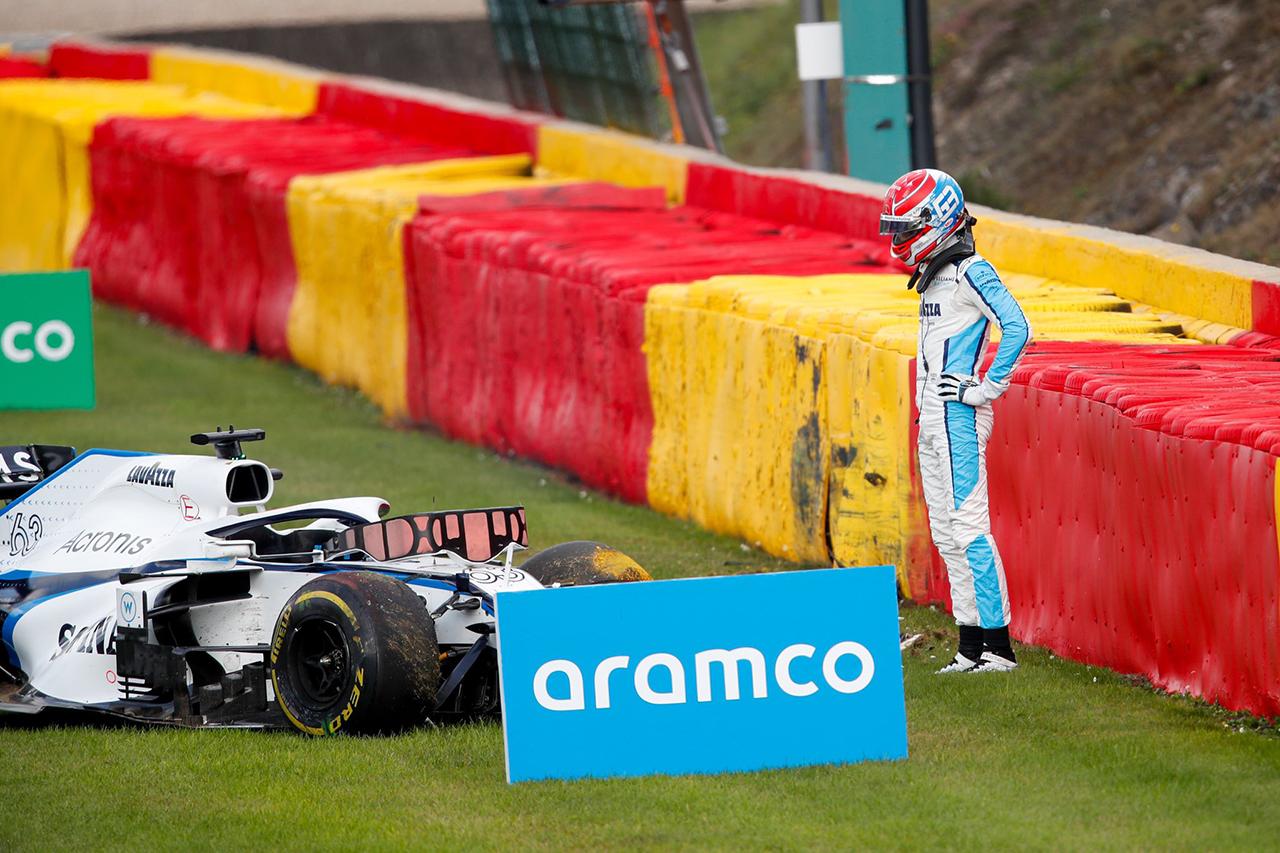 ジョージ・ラッセル、大クラッシュの恐怖を語る 「ヘイローに救われた」 / ウィリアムズ F1ベルギーGP 決勝