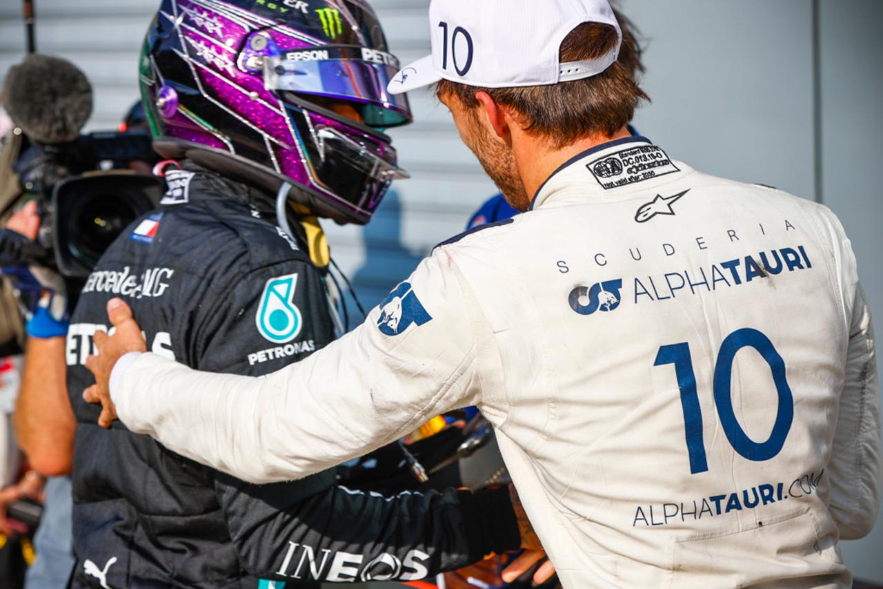 ハミルトン、F1初優勝のガスリーを称賛「レッドブルで不当に扱われた」