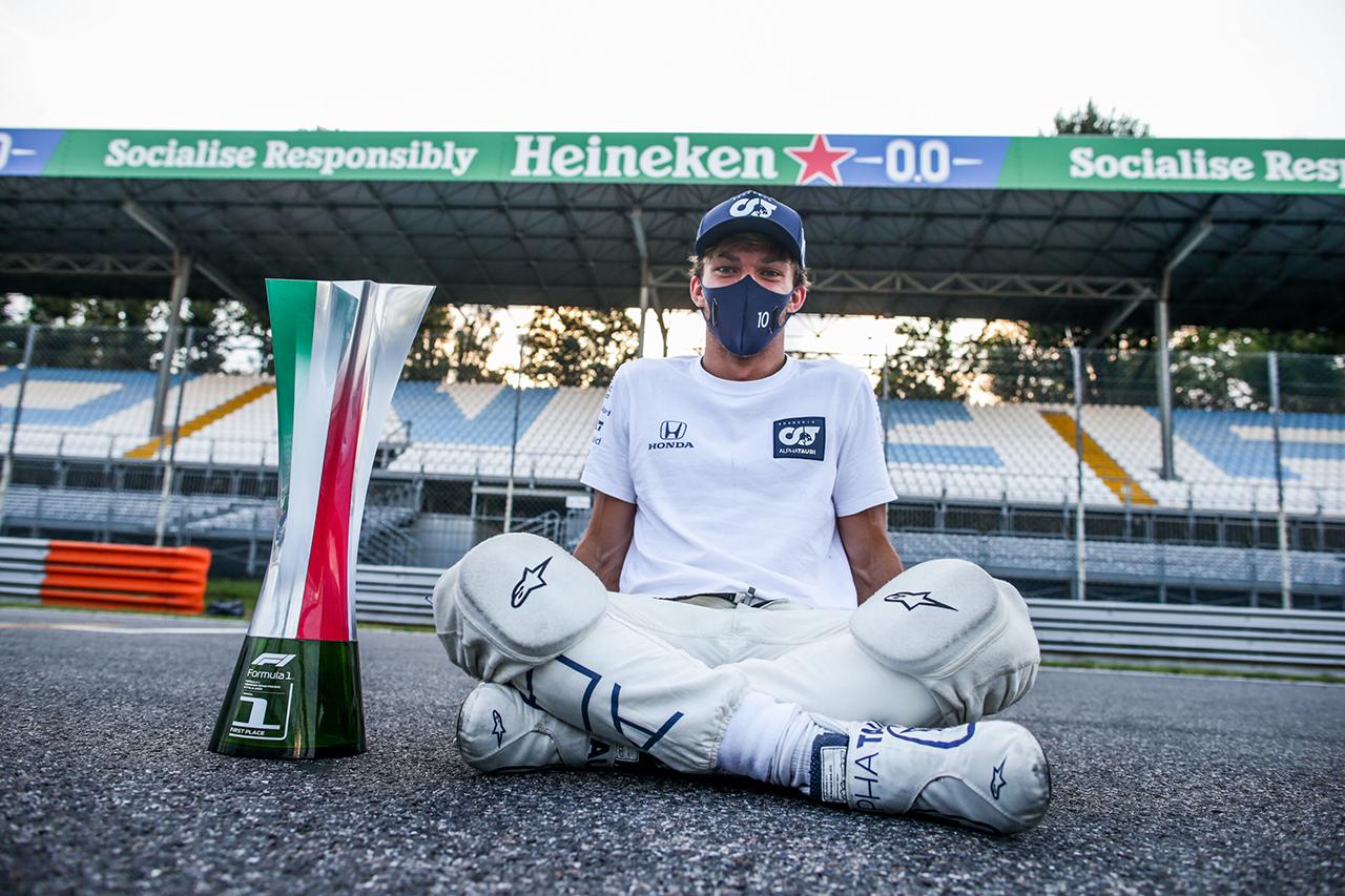 ピエール・ガスリー 「アルファタウリとホンダの努力が勝利をもたらした」 / F1イタリアGP 優勝インタビュー