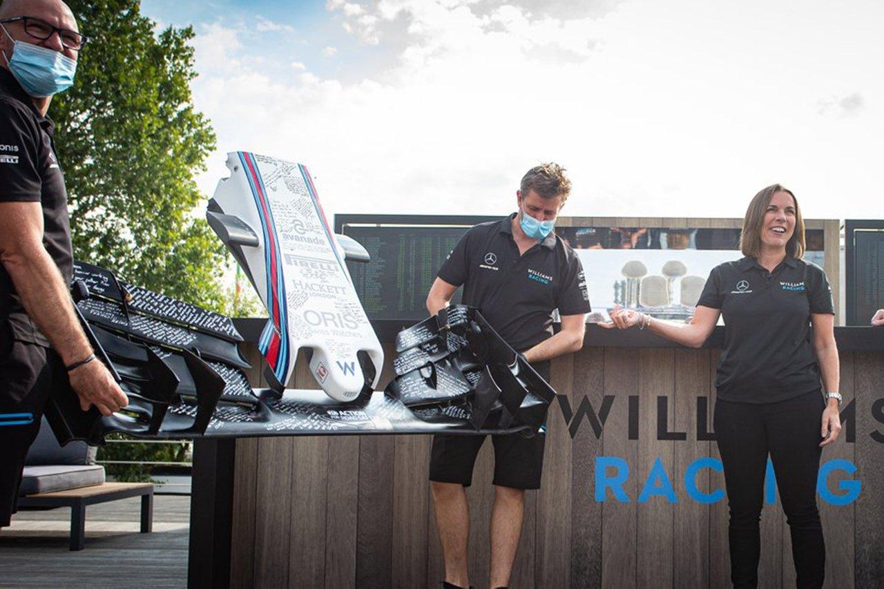 Photo of クレア・ウィリアムズのチームがここで一FW36の鼻を贈呈/ウィリアムズF1[F1-Gate.com]
