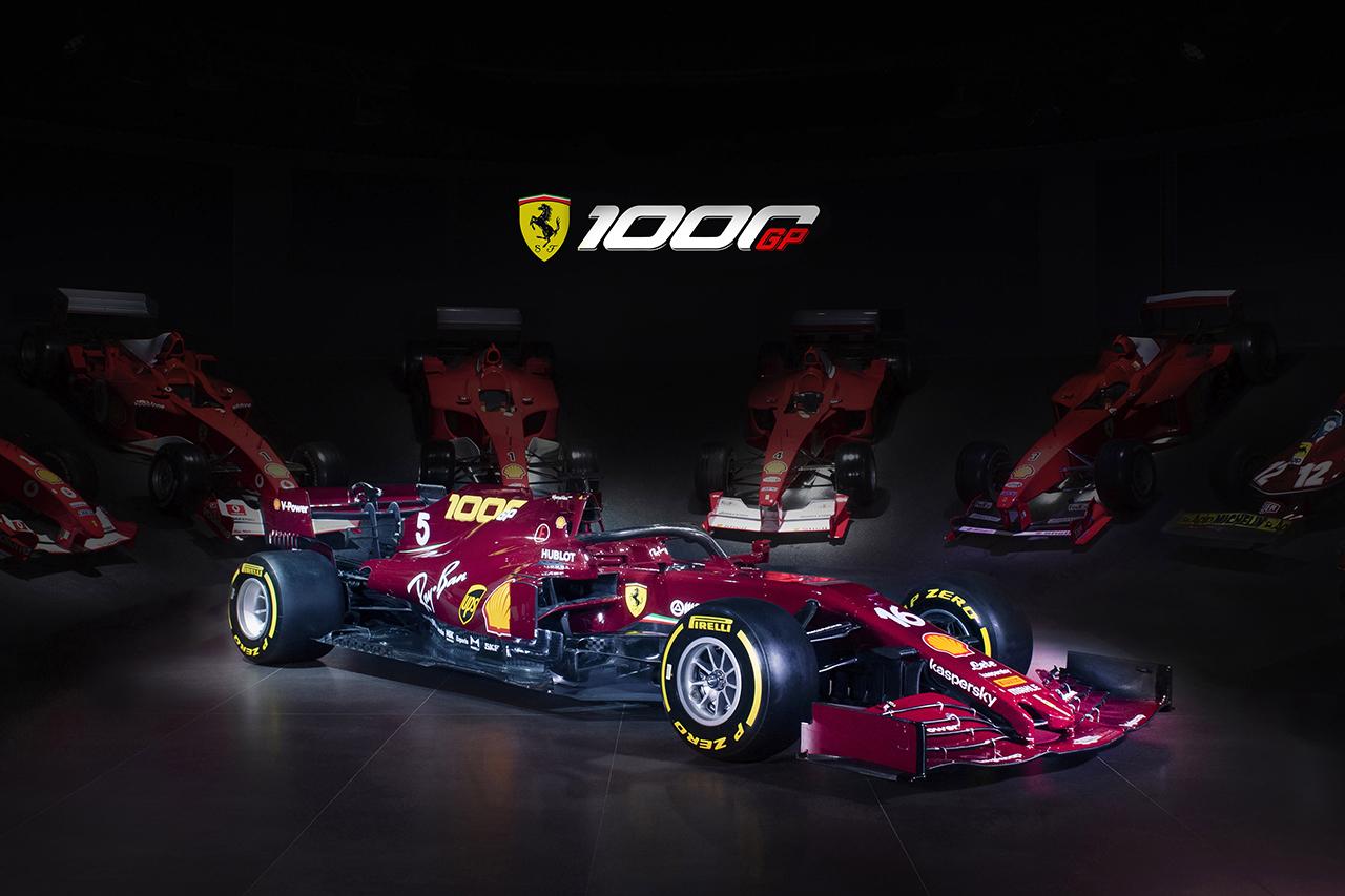 フェラーリF1、1000回目のグランプリを記念した特別カラーリングを公開 / F1トスカーナGP