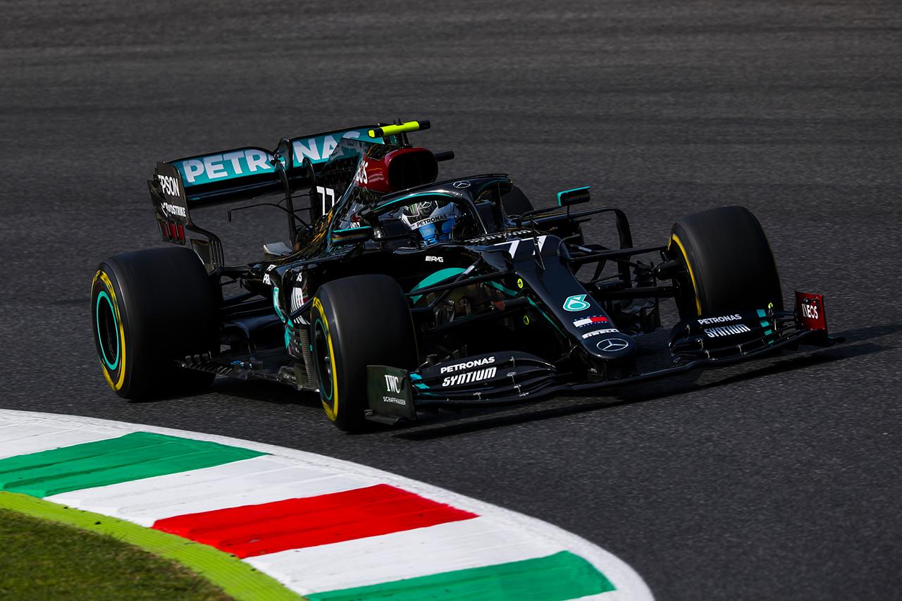 F1トスカーナGP フリー走行2回目:ボッタス最速でメルセデスがワンツー。レッドブルF1のフェルスタッペンが3番手