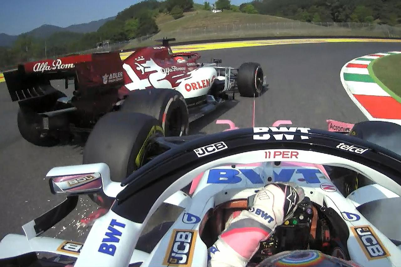 セルジオ・ペレス、ライコネンとの接触に1グリッド降格ペナルティ / F1トスカーナGP