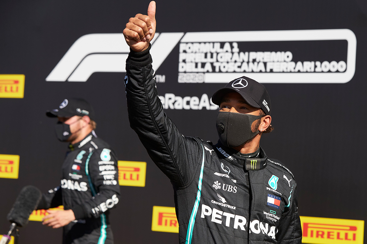 ルイス・ハミルトン 「ずっとボッタスの方が速かったので必死だった」 / メルセデス F1トスカーナGP 予選