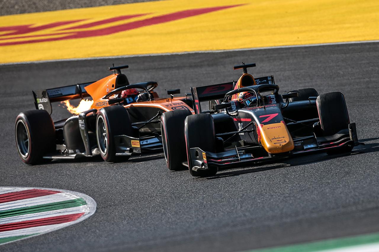 角田裕毅、痛恨のノーポイント 「セーフティカーで状況が変わった」 / FIA-F2 第9戦 レース1