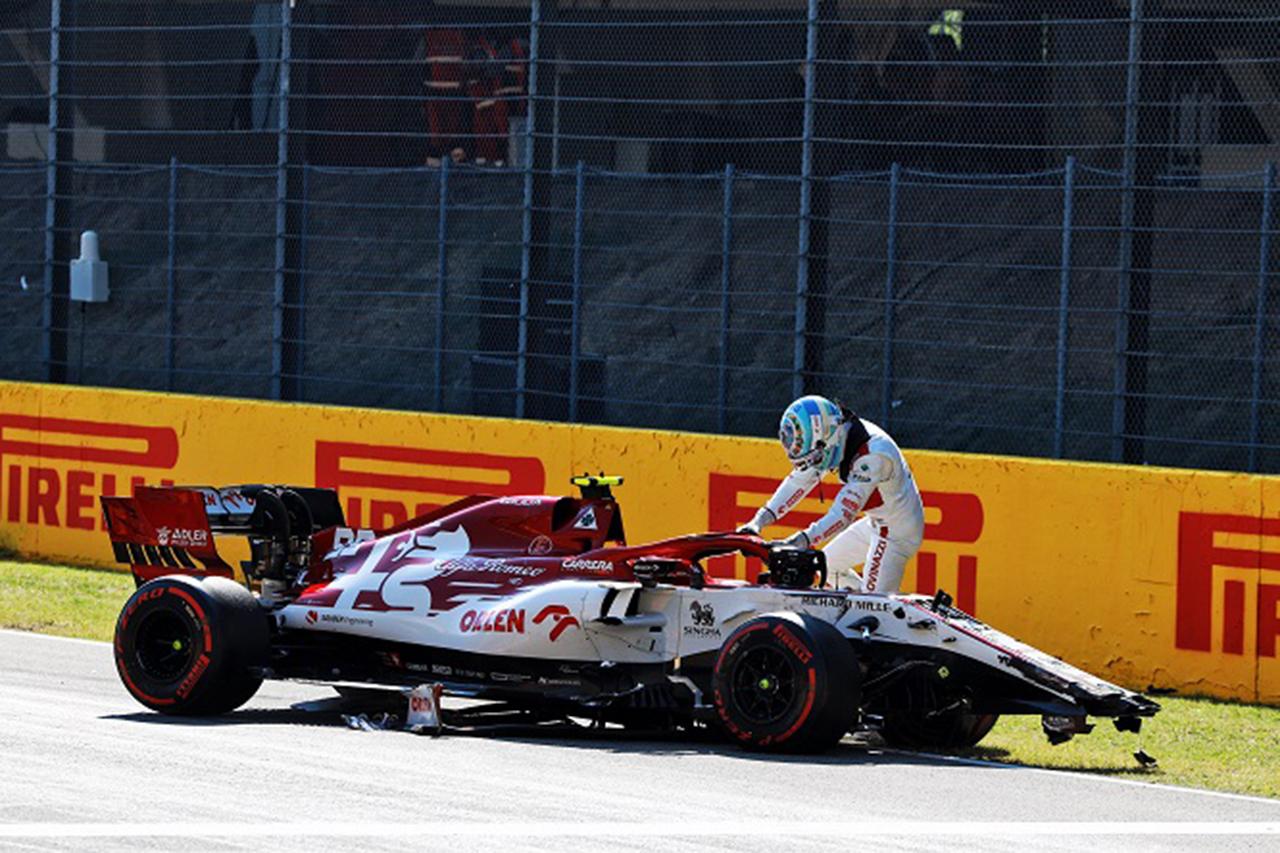 アントニオ・ジョビナッツィ 「突然マグヌッセンが目の前で止まりかけた」 / アルファロメオ F1トスカーナGP 決勝