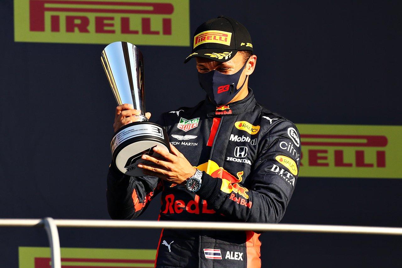 アレクサンダー・アルボン、嬉しいF1初表彰台3位 「長い道のりだった」 / レッドブル・ホンダ F1トスカーナGP 決勝